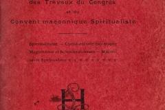 Compte rendu du convent organisé par Papus à Paris en 1908