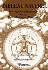 Bibliographie : Louis-Claude de Saint-Martin : Livre tableau naturel