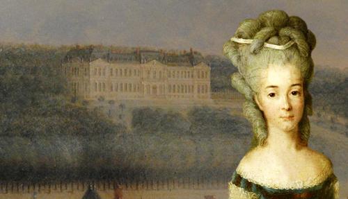 Bathilde d'Orléans au Château du Petit-Bourg. ( dont elle hérita de son père avant de posséder le palais de l'Élysée)