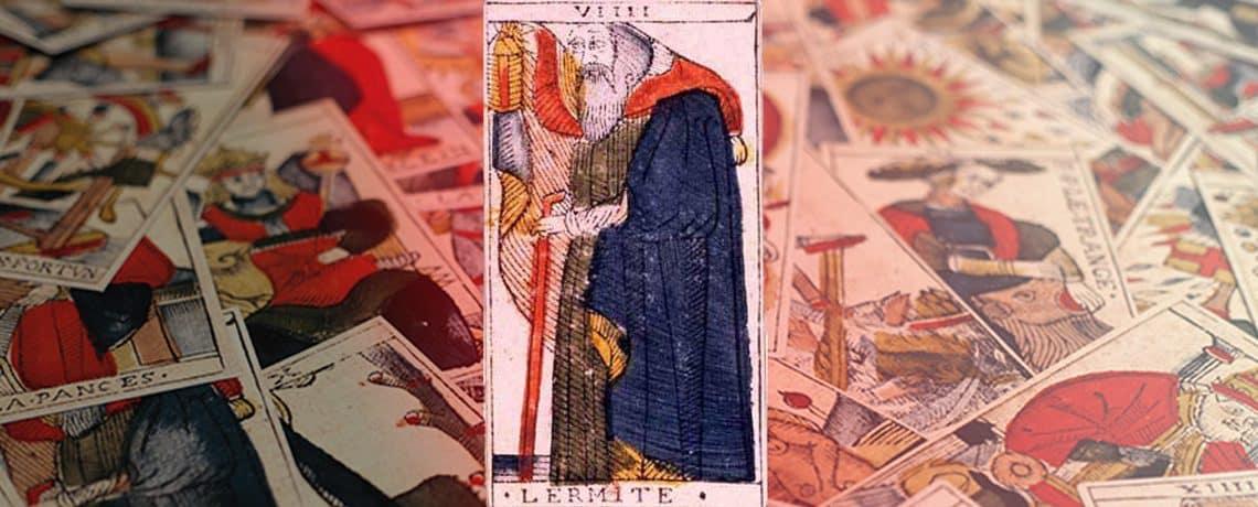 Le numéro 9, l'Ermite, du jeu de Jean Dodal (début XVIIIe siècle)